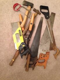 Job lot of vintage hand tools