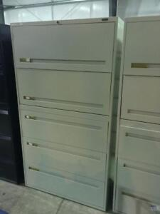Global Boulevard 5 Drawer Lateral Files - Beige - $325