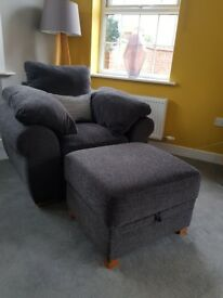 "Sofology ""Mango"" corner sofa, chair and footstool"