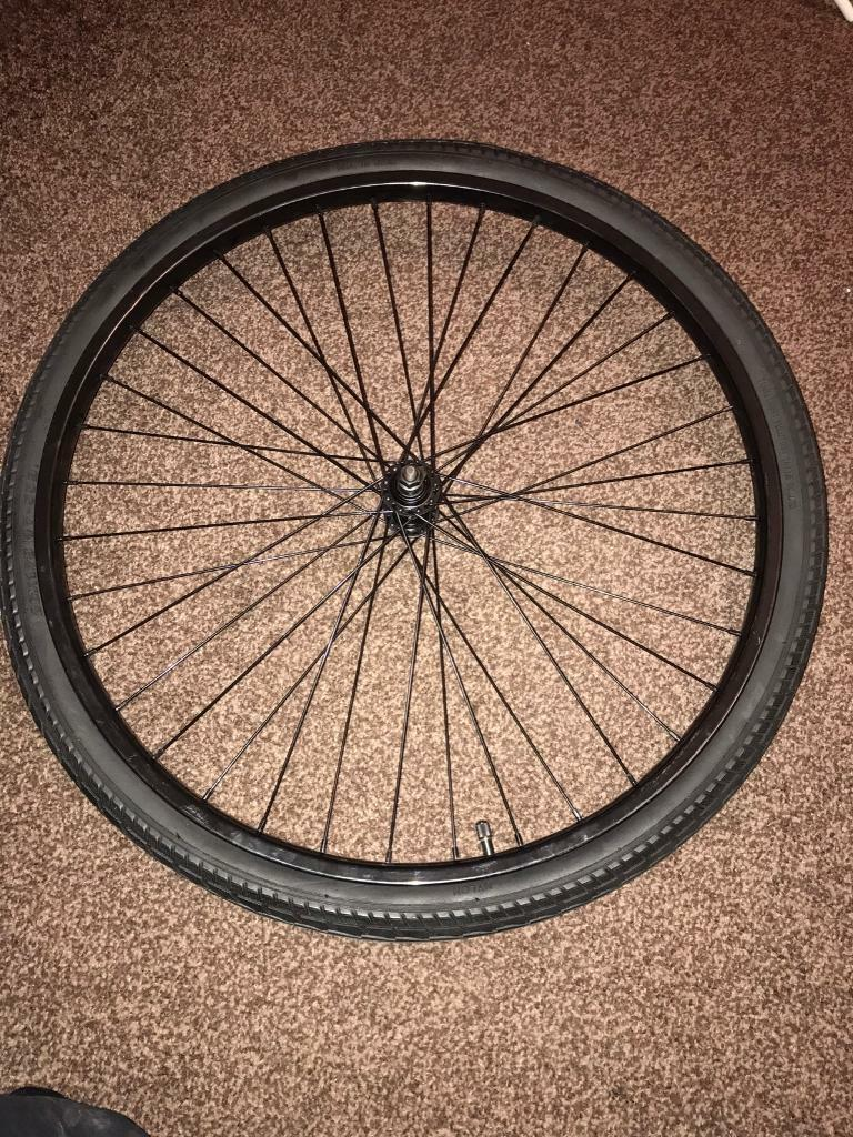 Front bicycle wheelsin Bradford, West YorkshireGumtree - I have for sale 16 front bicycle wheels.26 inch black rims with inner tubes and road tyres already fitted.These are not branded wheels or tyres so are at the cheap end of quality however they are excellent for hybrid bikes and commuter bikes.These...