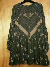 Free people printed dress new S