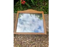 Vintage Large Wooden Framed Decorative Wall Mirror