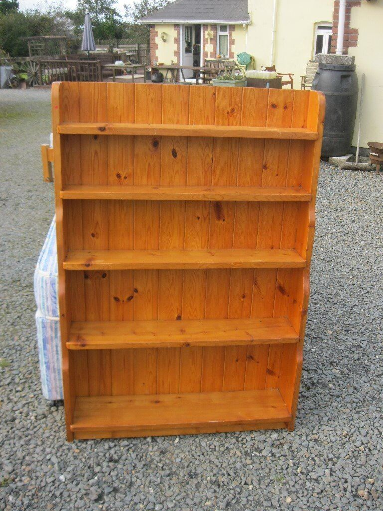 MODERN SOLID PINE STURDY SHELVING. VERSATILE LOCATION USAGE.5 SHELVES WITH BACKBOARD. VIEW/DELIVERY