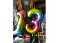 1,3,13,31, birthday number balloons