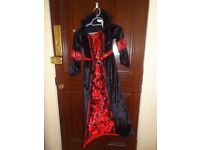 Kids Red Vampiress With Sound Costume (9-10 years)