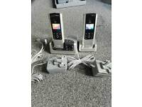 Bt freestyle 350 cordless twin home phone set