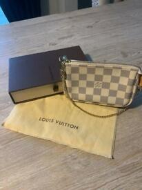 Louis Vuitton Pochette in Damier Azzure with original dustbag and box