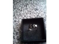 Gold and black diamond ring size n/o