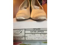 Satin wedding shoes size 6