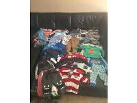 60 piece baby boy clothes bundle ranging from newborn to 12 months