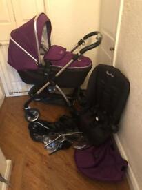 Silver Cross Damson Purple Wayfarer (£125) With Car Seat (£175)