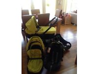 Graco Evo travel system , lime green and black