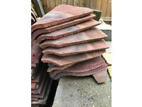 Reclaimed roof bonnet tiles - Quantity 10