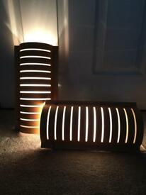 Ikea slit wall bedside lights