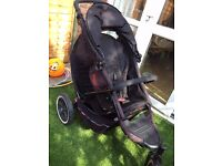 Phil & Teds Explorer Double Buggy - Black