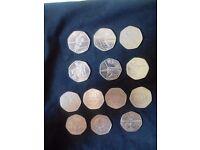 Various rare 50p Coins £1.20 each