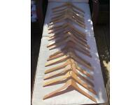 20 new wooden shirt hangers