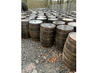 Solid Oak Whiskey Barrels And Planters