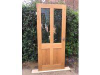 Solid Oak Interior doors - Part Glazed