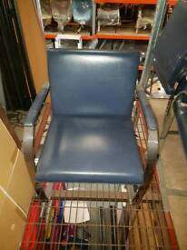Navy Blue genuine Knoll Bruno chairs