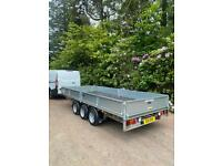 Ifor Williams 2020 lm166 16 ft tri axle trailer