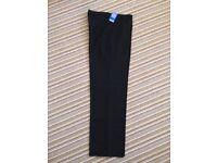 Boys black M&S uniform trousers new
