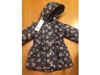 Brand new girls winter jacket (9-12months)