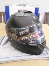 New motorcycle helmet. Shark Speed - R Dual Black Size Small
