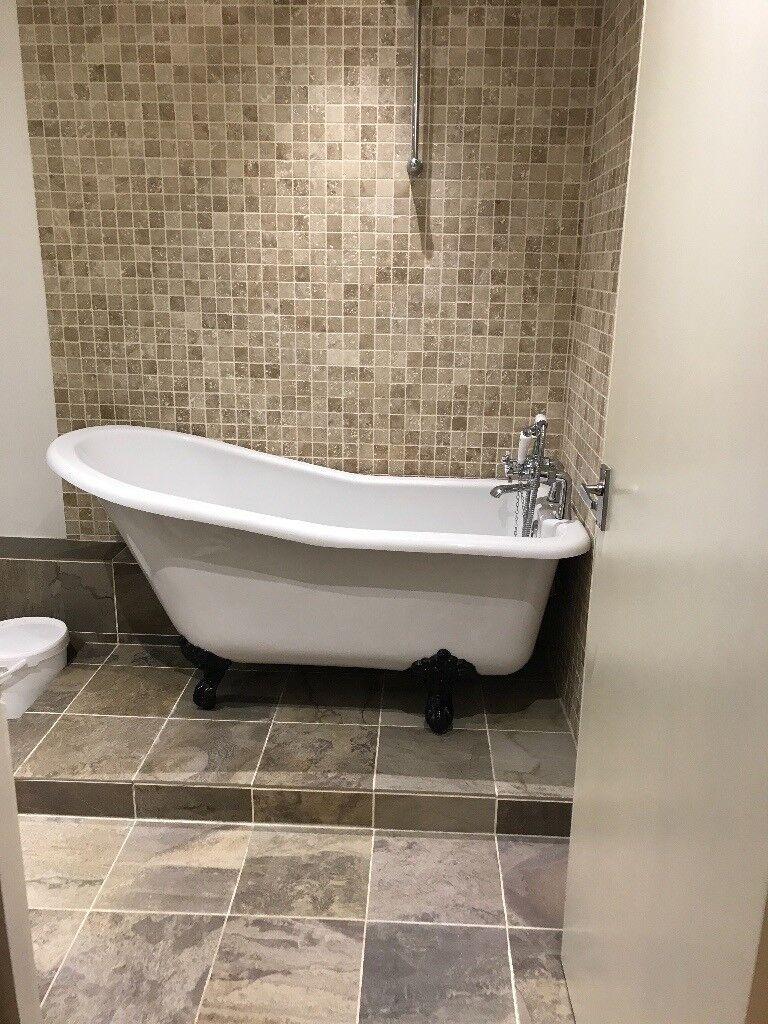Salisbury roll top bath with cast iron feet and Bensham traditional ...