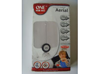 One For All Amplified Ultra Flat TV Indoor Aerial 41dB Freeview Antenna