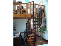 Metal Spiral Staircase with 9 Wooden treads