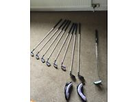 Benross Aldila TM-70 Ladies Clubs with Ben Sayer Ladies Golf Bag in almost new condition