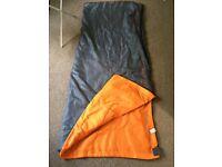 Adult single sleeping bag, used once.