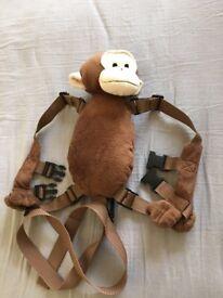 Kids safety strap set with monkey holder