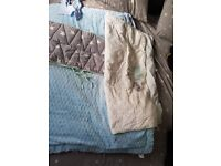 2 Baby boy cover and bumper sets