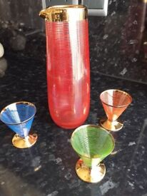 1950's cocktail set perfect condition very attractive only £8