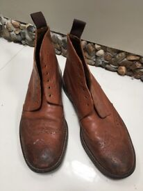 Bertie Tan Brogue Boots (9/43)