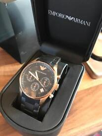 Emporio Armani watch rose and black