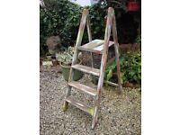 Vintage,Timber,Step Ladder.