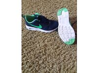 Boys nike size 5 navy/green trainers. Excellent condition, like new smoke free home