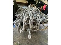 Marine rope good for garden feature. Approximately 50m