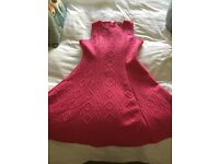 Pink party dress petite size 12 or age 13-16yrs