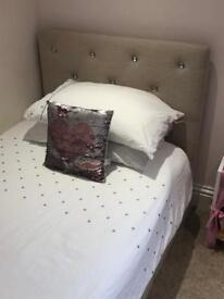 Girls Padded Headboard Bed