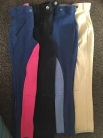 4 pairs of riding jodhpurs Age 7-8
