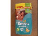 Brand new Pampers baby-dry size 5 nappies (108)