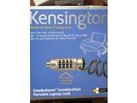 Kensington combination portable laptop lock