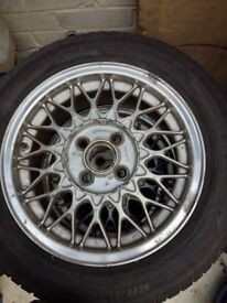 Mazda MX5 Genuine BBS 14 inch Alloy Wheels