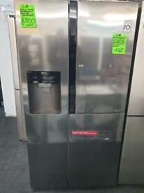 Ex display LG chrome fridge freezer with dispenser