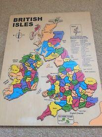 Wooden British isles puzzle