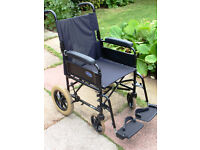 Invacare Folding Transit Wheelchair. Nice Condition.